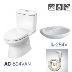 Bồn cầu inax AC 504 + L284 +CFV102A