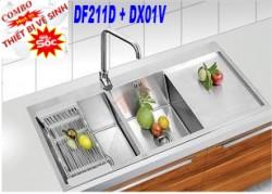 Combo Chậu rửa chén DF211D + DX01V
